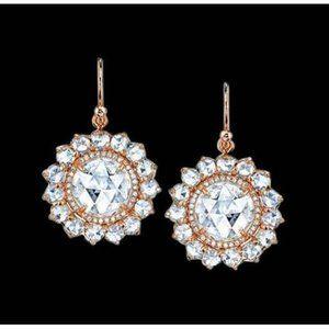 2.50 ct. diamond ear ring Diamonds dangle  pair ye